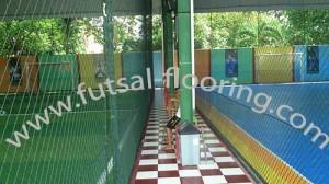 proses instalasi flooring futsal lapisan lantai 11
