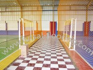 proses instalasi flooring futsal lapisan lantai 19