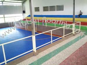 proses instalasi flooring futsal lapisan lantai 17